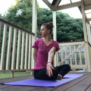 seated twist outside